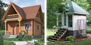 Деревянные маленькие домики