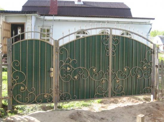 Кованые ворота своими руками фото 110