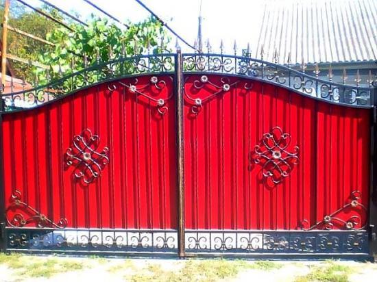 Постройка кованых ворот