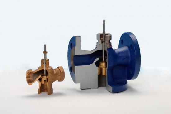 Двухходовый смесительный клапан