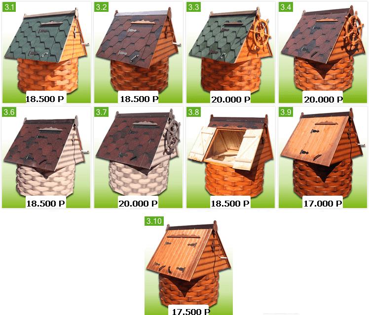 Цена колодезного домика
