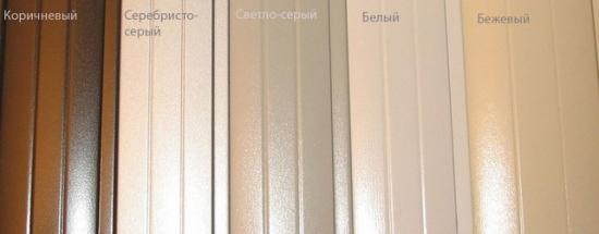 Цветовая гамма ламелей