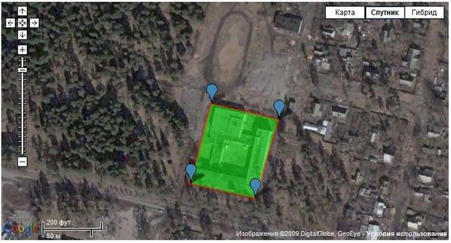 3. Измерение площади при помощи гугл-карт