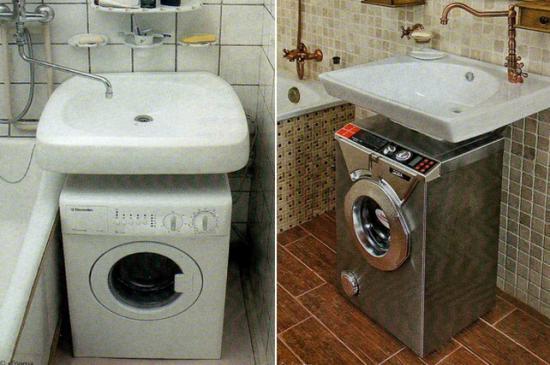Техника в маленькой ванной