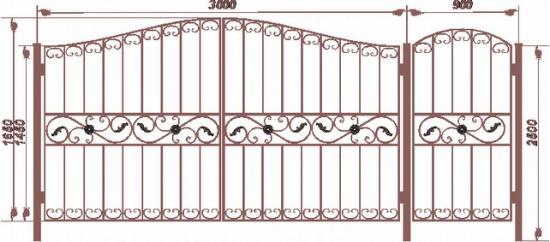 Комбинировать ворота с калиткой