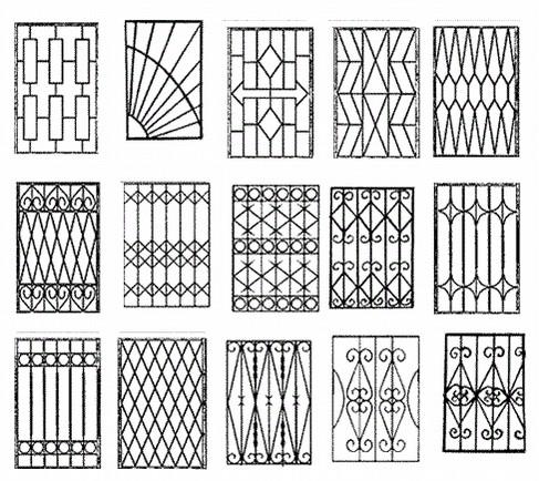 Примеры узоров для сварных решеток