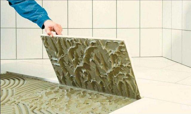 плиточный клей для ванной