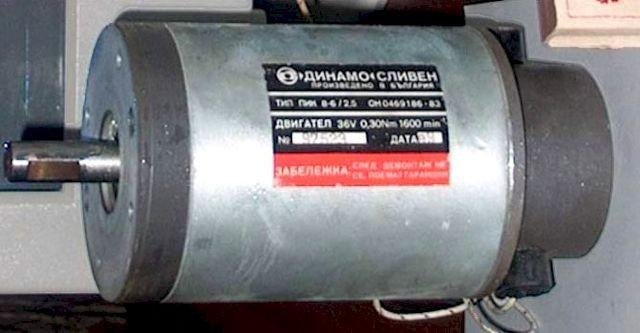 Болгарский электродвигатель на 36 В