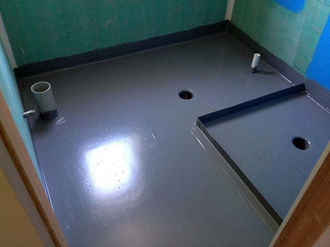 Гидроизоляция ванной комнаты полимерной мастикой