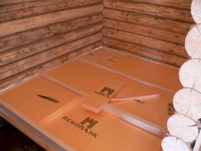Пеноплекс в деревянной бане
