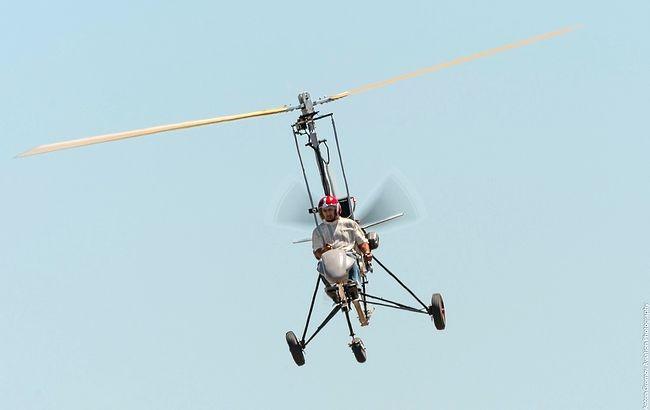 Самодельный летательный аппарат с мотоциклетным двигателем