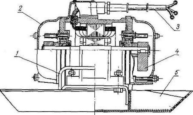 Схема вибродвигателя для бетона