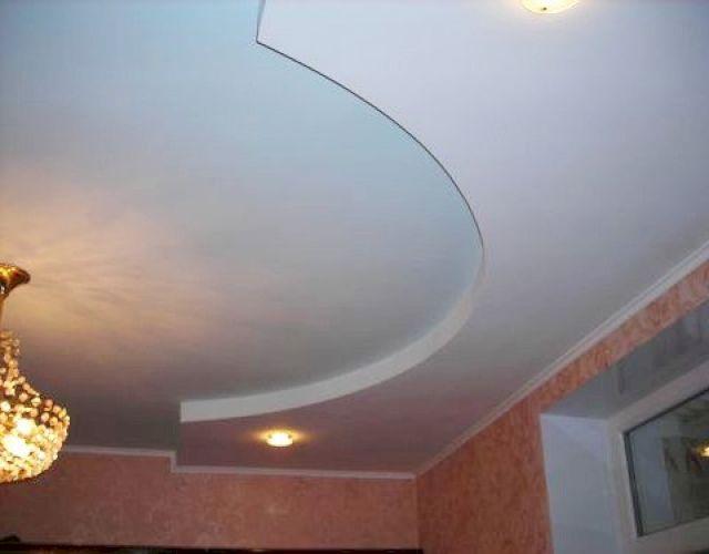 двойной потолок из гипсокартона