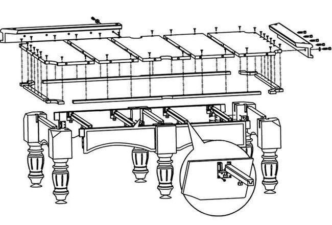 чертежи бильярдных столов фото