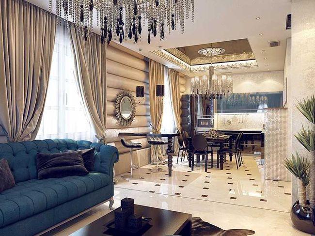 Дизайн интерьера комнаты арт-деко