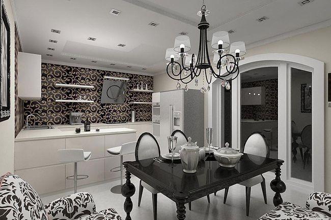 Дизайн интерьера кухни в стиле Арт - деко