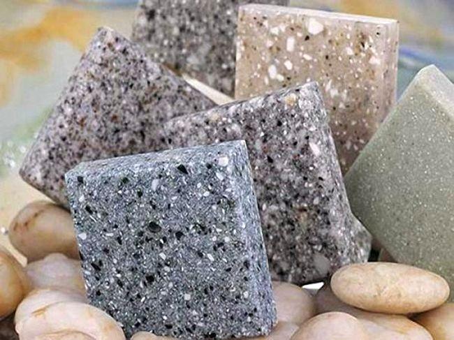 Образцы искусственного камня