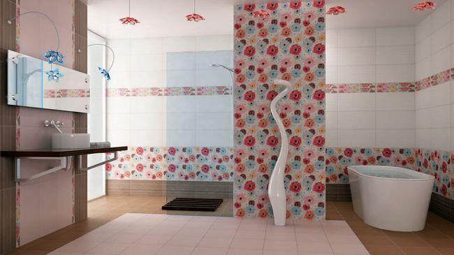 Отделка стен в ванной комнате