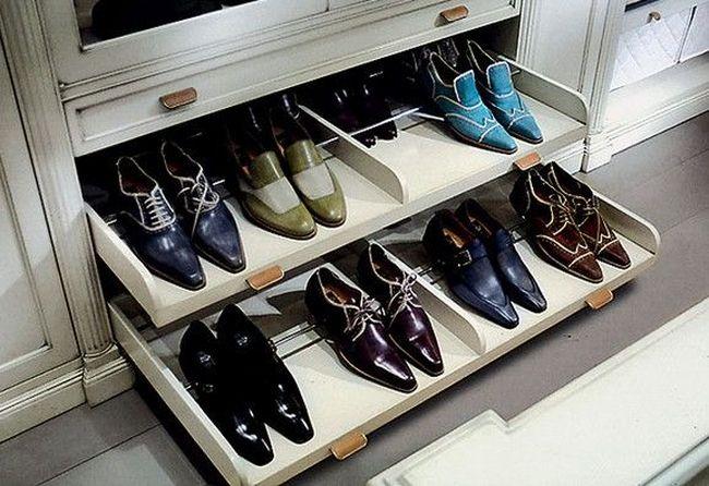 Полки для обуви выдвигающиеся