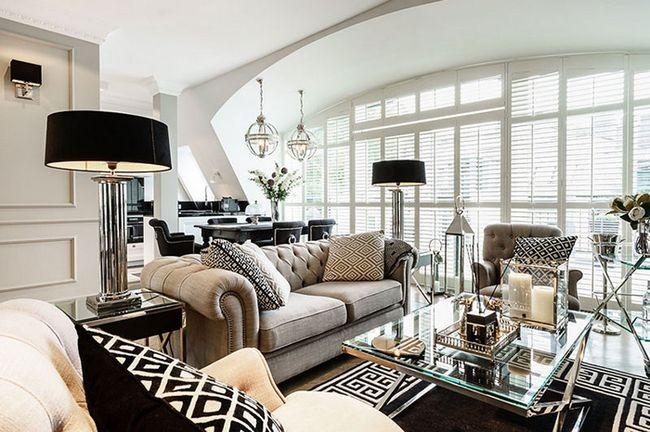Роскошный интерьер дома в стиле арт-деко