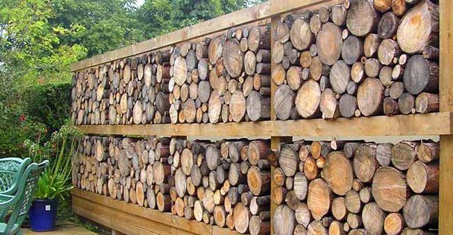 оригинальній деревянный забор