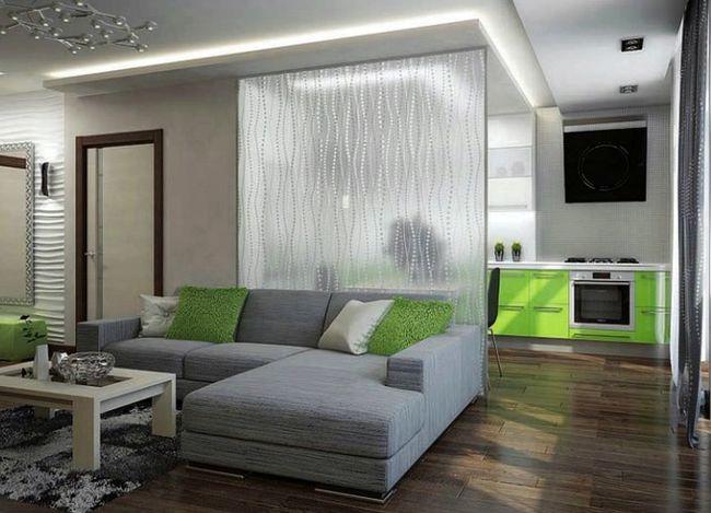 стеклянные матовые узорчатые перегородки в квартире