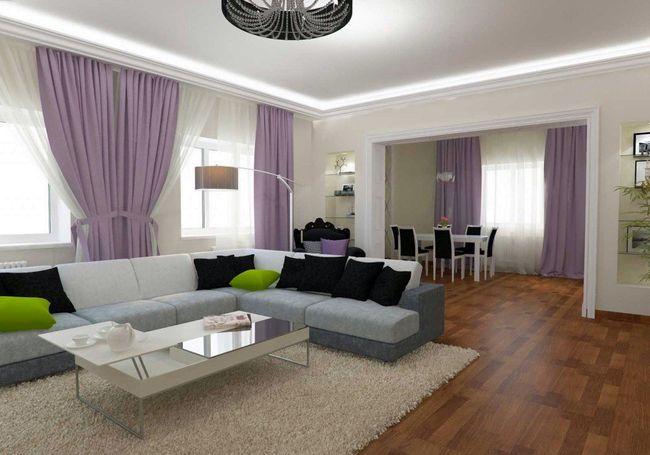 Дизайн большой гостиной1
