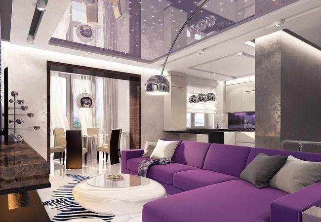 Дизайн интерьера гостиной в современном стиле3