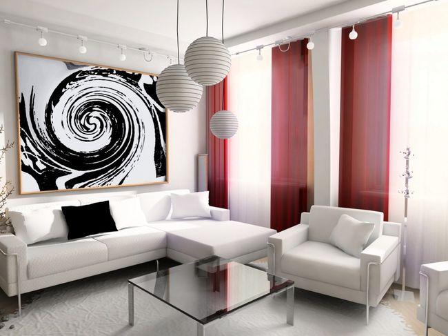 Дизайн интерьера гостиной в современном стиле4