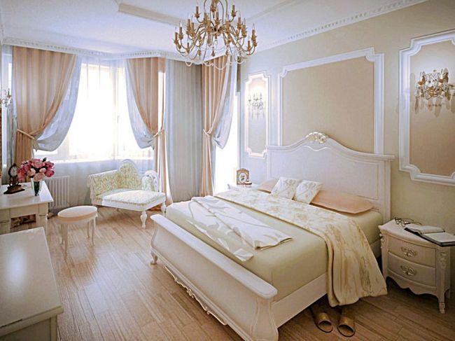 Интерьер и дизайн спальни в классическом стиле3