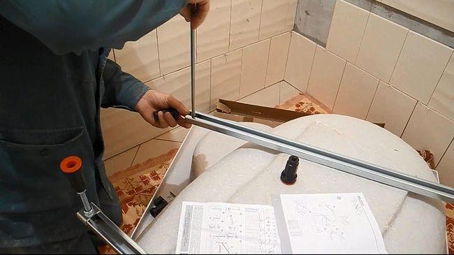 Монтаж угловой,акриловой ванны
