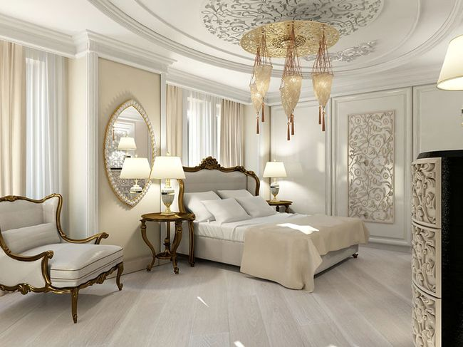 Спальня в классическом стиле1