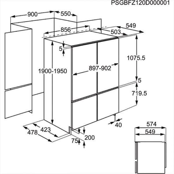 Встраиваемый холодильник Electrolux ENX4596AOX