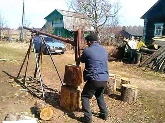 Механический колун дров своими руками