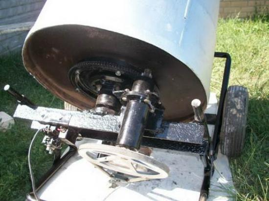 Бетономешалка с двигателем от стиральной машины