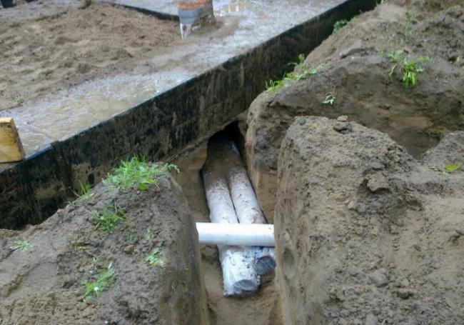 трубы под полом