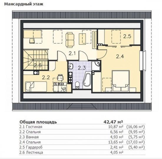 2 этаж 108 м2