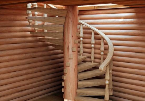 Винтовые лестничные конструкции выглядят эстетично