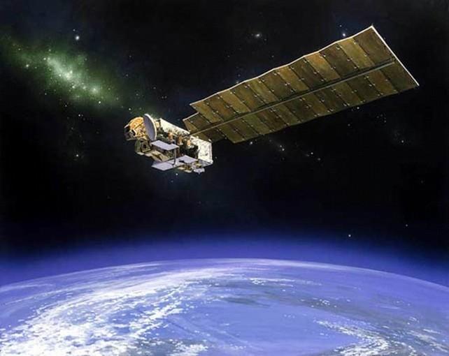 Космический аппарат, который находится на орбите