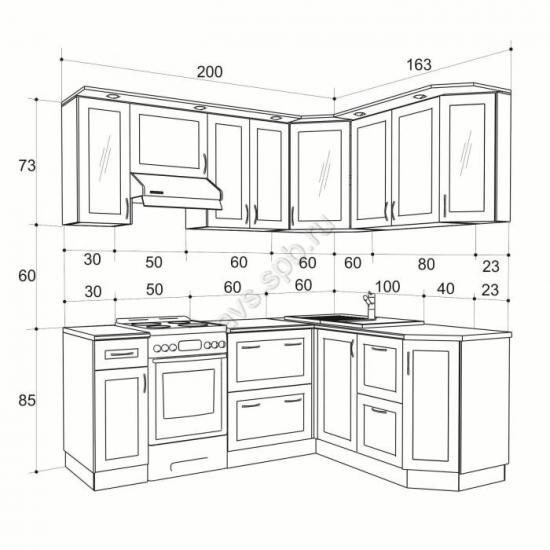Угловые кухонные шкафы