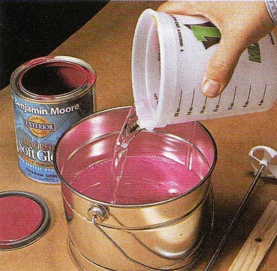 Как разбавлять краску