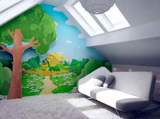 Ребенок получит свое собственное помещение под самой крышей