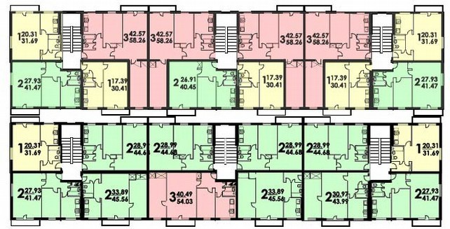 Планировка этажа брежневки