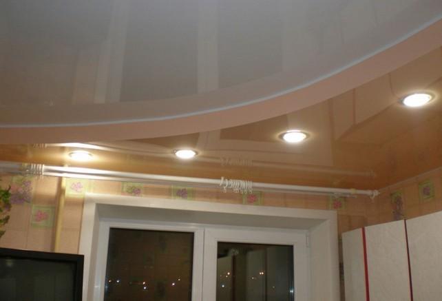Натяжная система с точечным освещением