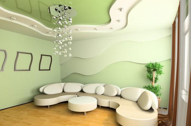Интересное решение дизайна потолка в хрущевке