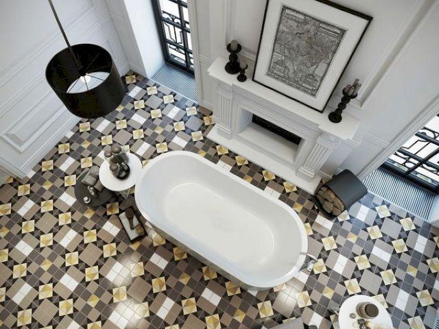Метлахская плитка для пола в ванной