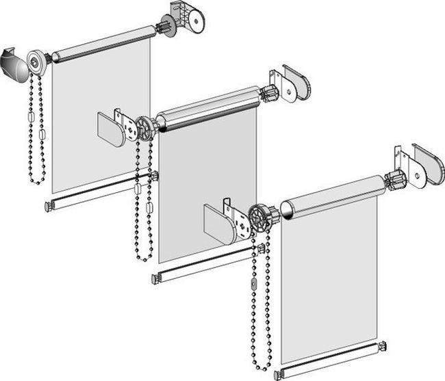 Ролл-штора с кассетным механизмом