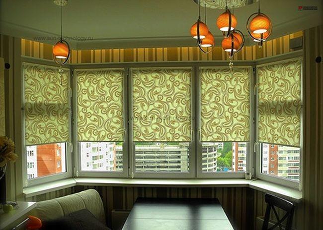 Рулонные шторы на лоджии