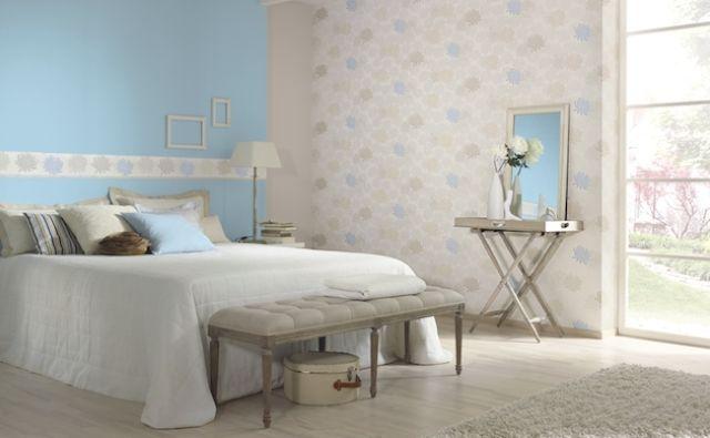 Удачное применение кобинации для зонирования спальни