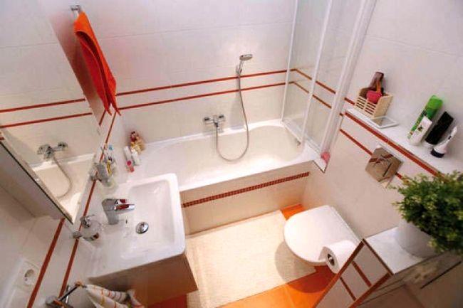 Дизайн маленькой ванны 3 квадрата
